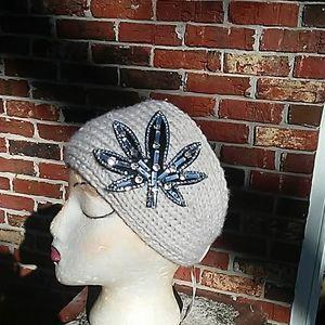 2 crochet knitted headband scarves